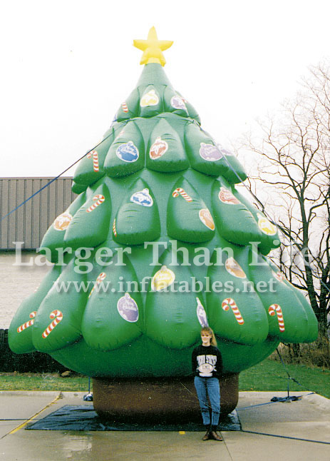 25′ Inflatable Christmas Tree - Holiday Inflatables Larger Than Life Inflatables